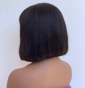 Double Drawn Mini Bob Frontal Wig