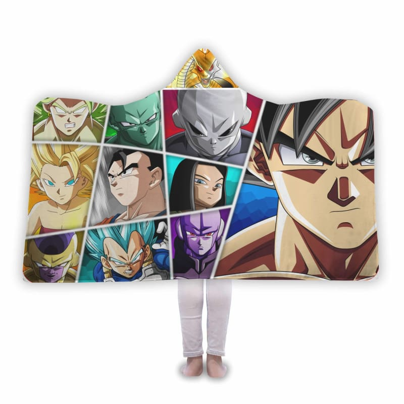 Dragon Ball Super Shenron And The Most Power People Hooded Blanket