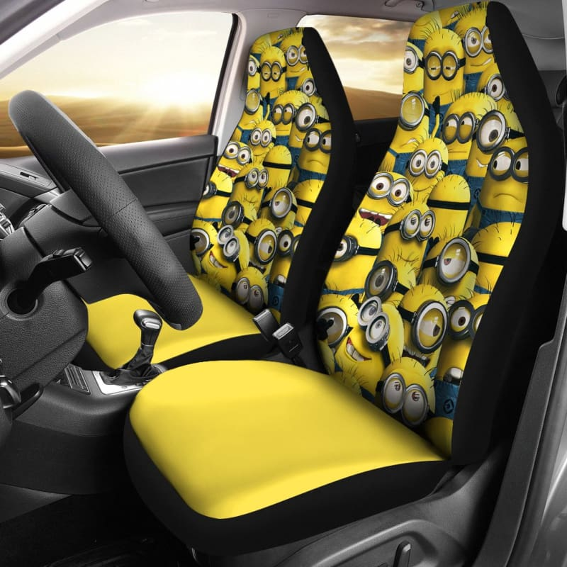 Phenomenal Minion Car Seat Covers Andrewgaddart Wooden Chair Designs For Living Room Andrewgaddartcom