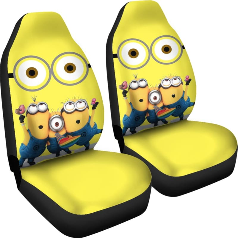 Enjoyable Minion Funny Car Seat Covers Andrewgaddart Wooden Chair Designs For Living Room Andrewgaddartcom