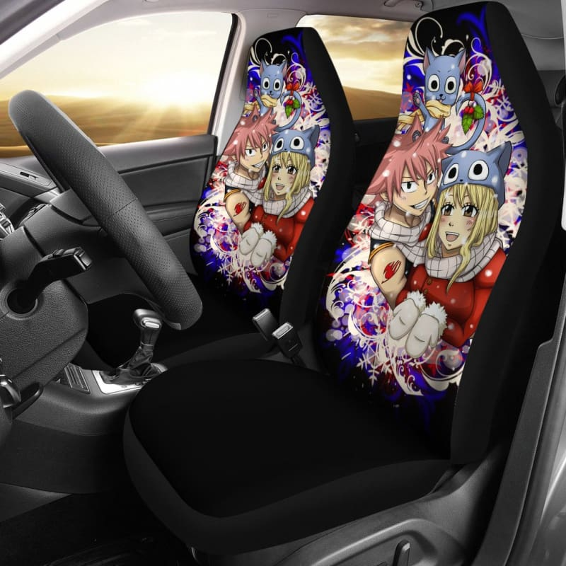 Natsu Lucy Christmas Fairy Tail Car Seat Covers