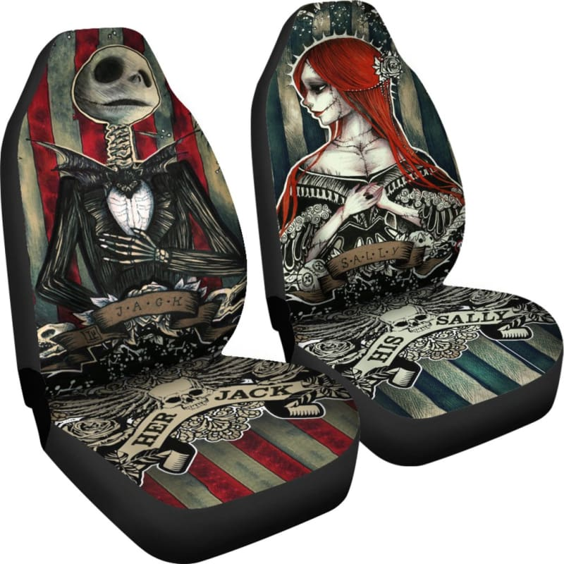 Swell Nightmare Before Christmas Car Seat Covers Machost Co Dining Chair Design Ideas Machostcouk