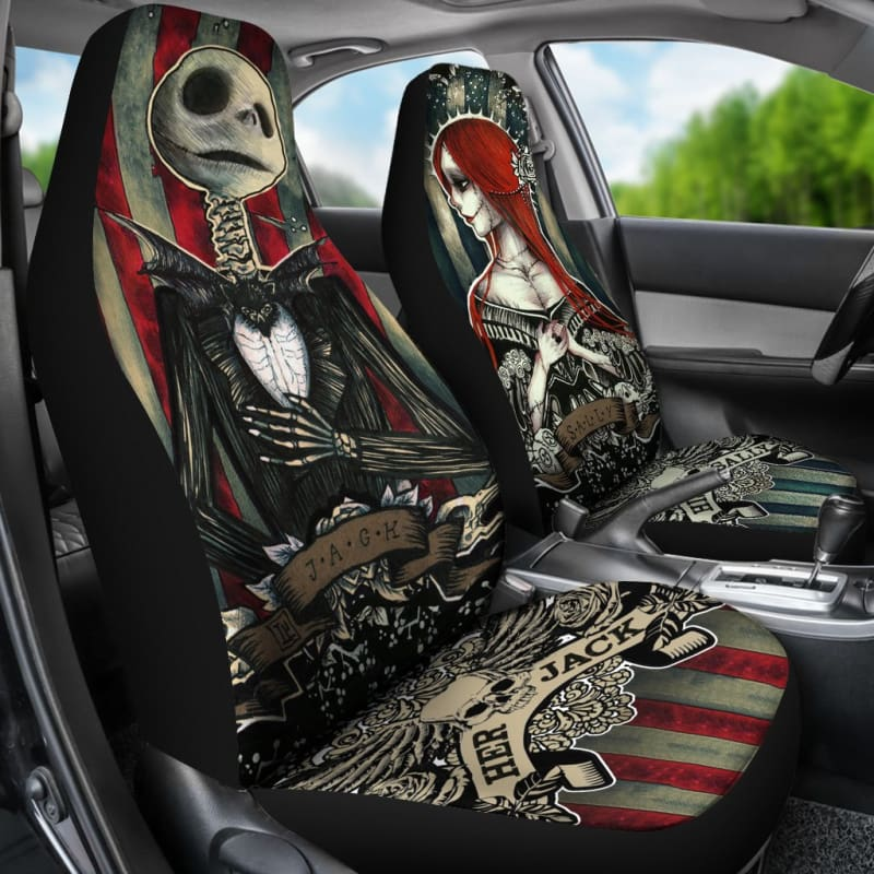 Incredible Nightmare Before Christmas Car Seat Covers Machost Co Dining Chair Design Ideas Machostcouk