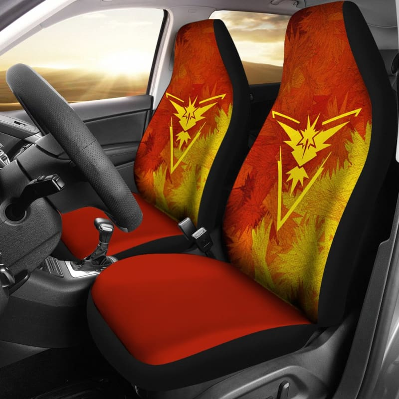 Team Instinct Zapdos Pokemon Car Seat Covers Gearkinda Free Shipping