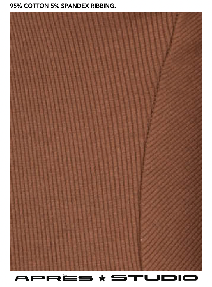 HAZELNUT RIBBED SKIVVY
