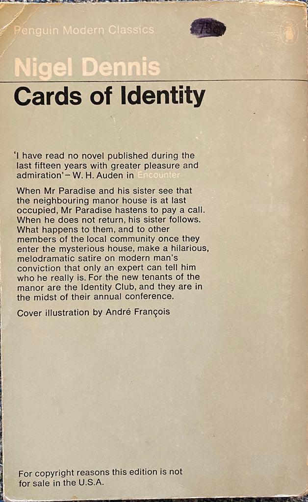 Cards of Identity Nigel Dennis