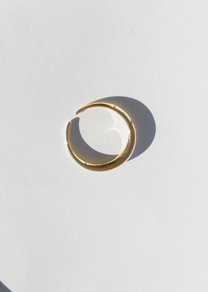 Moonlight Toe Ring, Gold