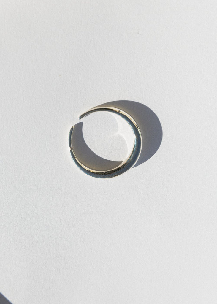 Moonlight Toe Ring, Silver