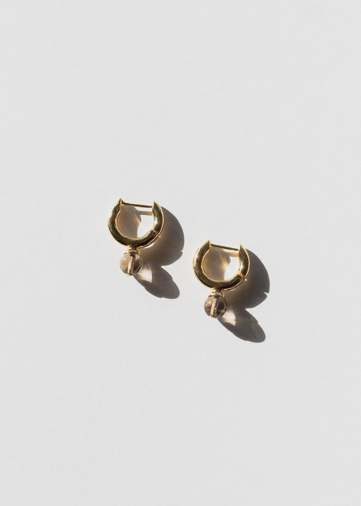 Audrey Hoops, Smokey Quartz, Gold