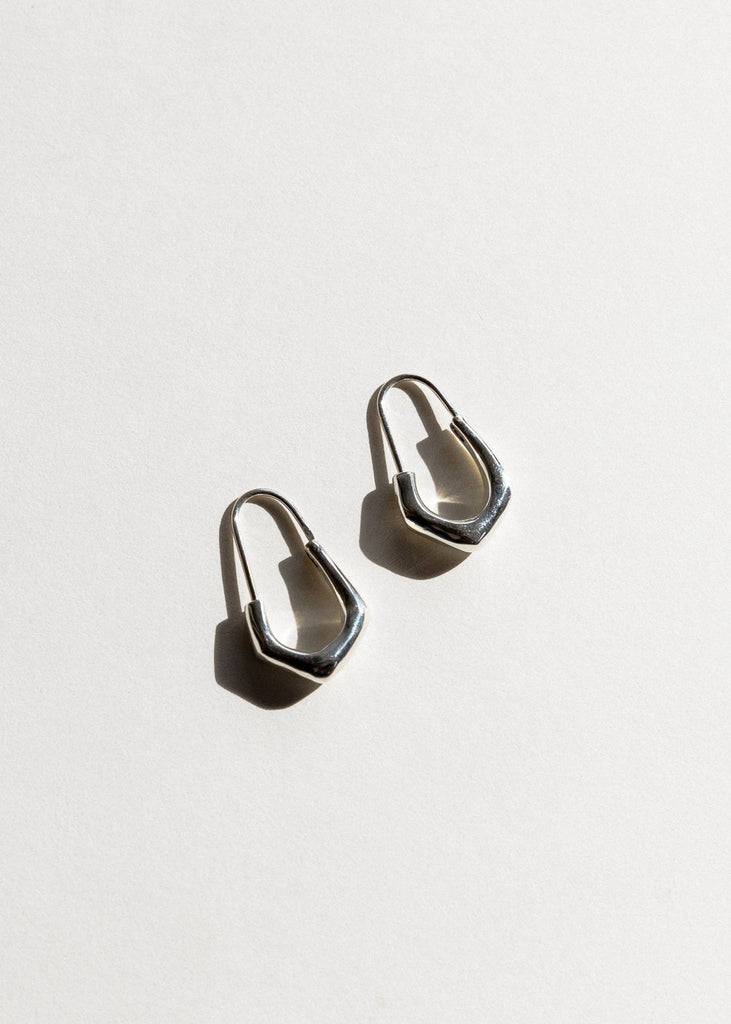 Billie Earrings, Silver