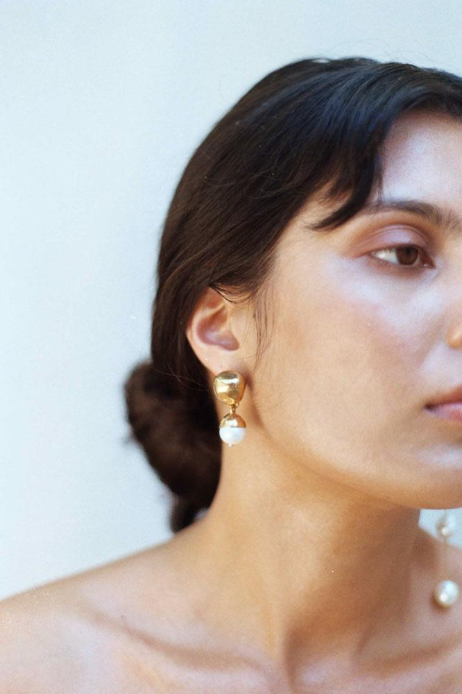 Coco Earrings, Gold