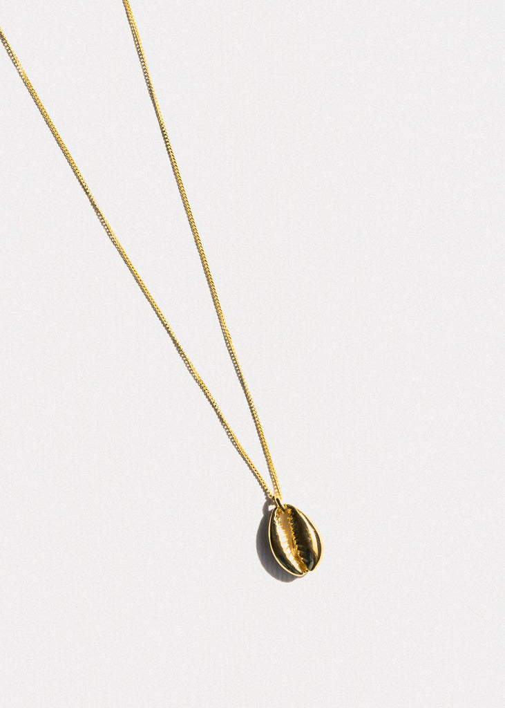 Cowry Shell Necklace, Gold