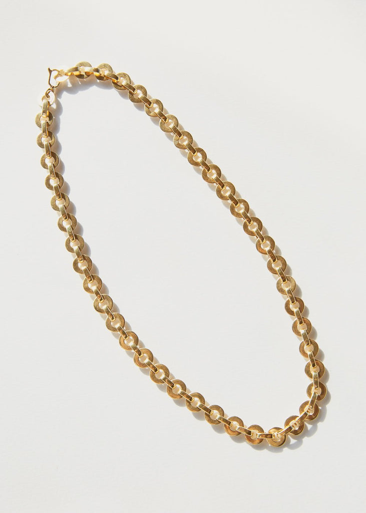 Moon Necklace, Gold