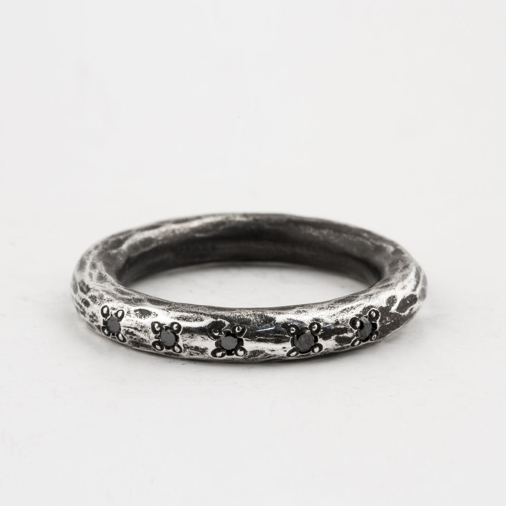 Black Diamond Stacker Ring