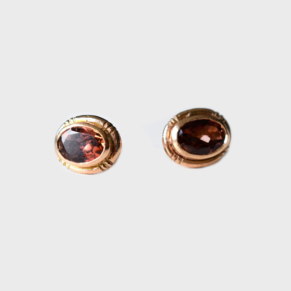 Oval Valeria Stud Earrings