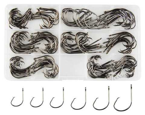 Ultra Point Demon Circle Hook High Carbon Steel Offset Fishhook in 150pcs/box