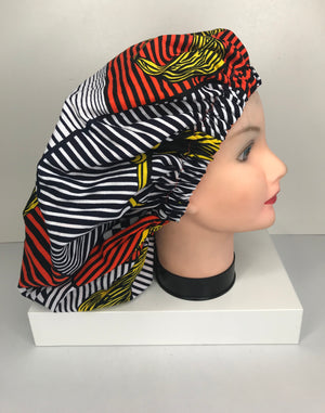 African Print Bonnet [reversible with satin lining]