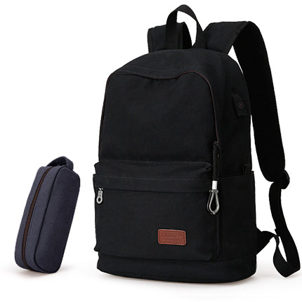 b95c63a9683 ... 2017 Men Male Canvas Backpack College Student School Backpack Bags for  Teenagers ...