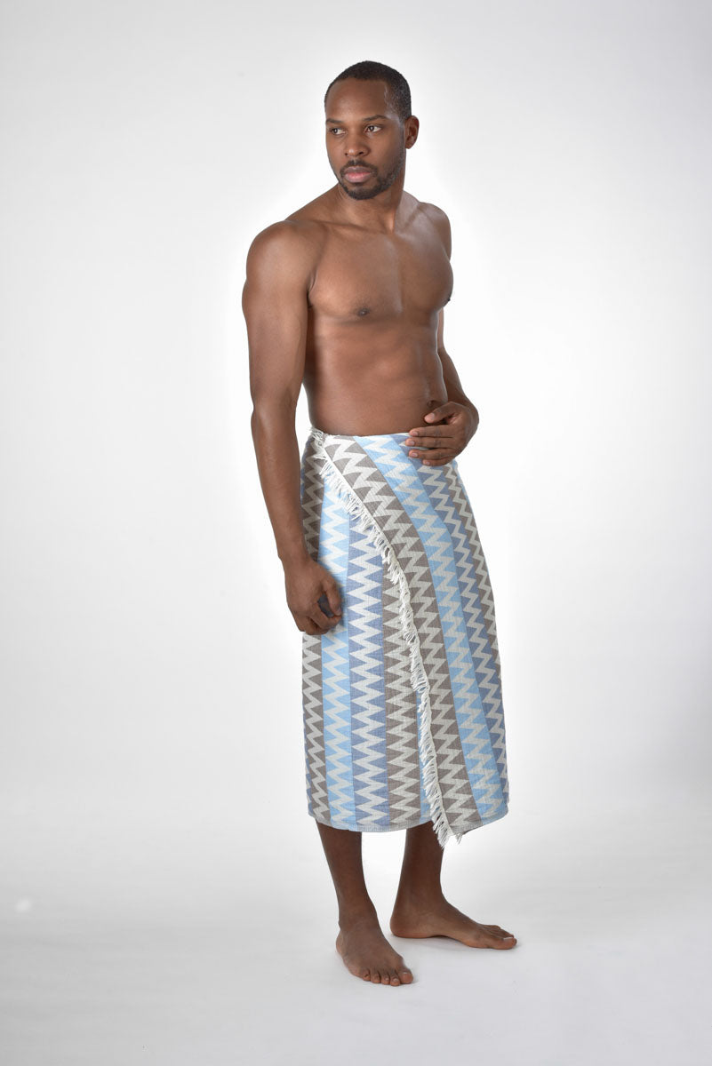 Blue Fluctus Towel- Poseidon Collection