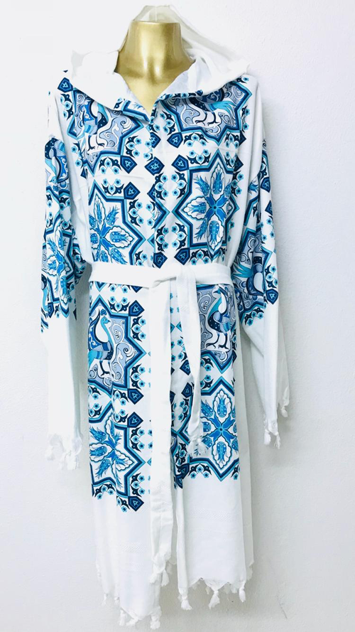 Blue Bird Bathrobe