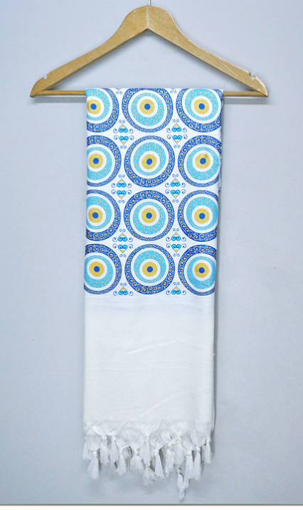 Traditional Evil Eye Towel -  Anatolian Collection