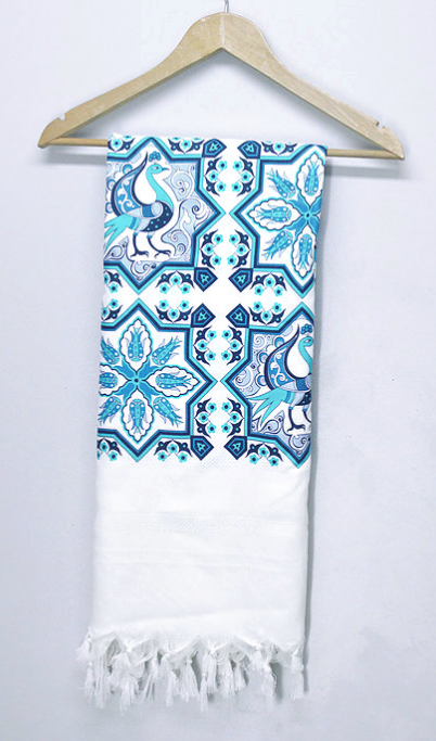 Blue Bird Towel - Anatolian Collection