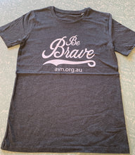 Men's 100% Cotton Organic Grey Heather T-Shirt Be Brave with AVN URL