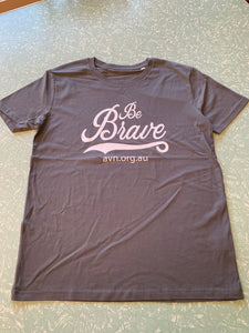 Men's 100% Organic Cotton T-Shirt - Be Brave with AVN URL