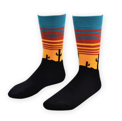 Cactus Sunset Socks - Sock Mafia
