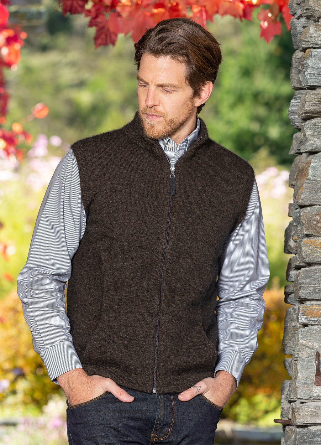 Men's possum gilet - Ravir Boutique