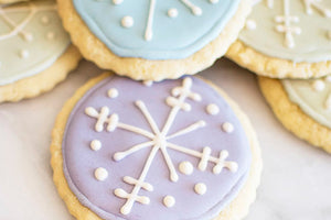 SNOWFLAKE LEMON GINGER SUGAR COOKIES