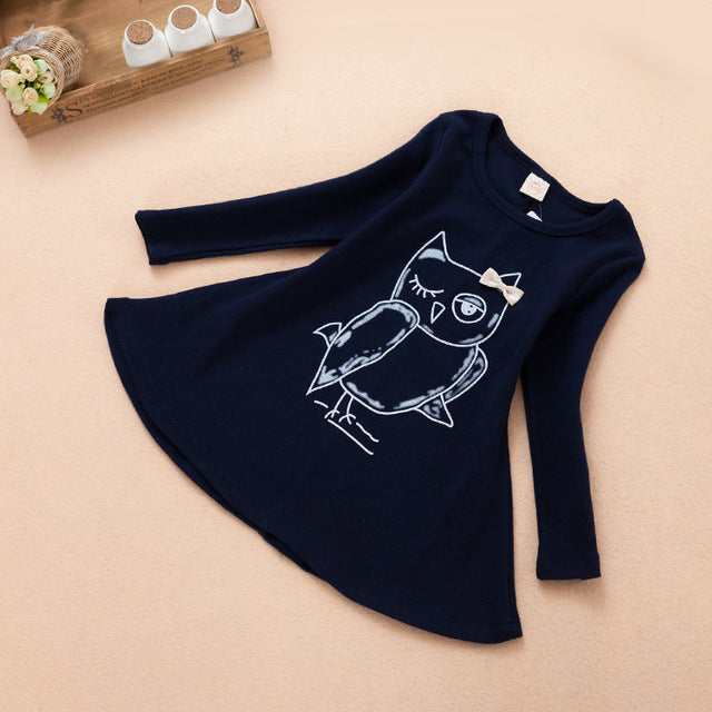 2-7 Years Baby Girl Casual Dress long sleeve kids dresses for girls Clothes children clothing  Winter  Catton for Girls Costumes