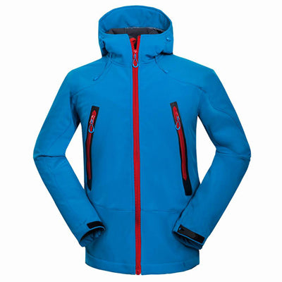 2017 Outdoor Softshell Jacket Men Hiking Jacket Waterproof Windproof Thermal Jacket For Hiking Camping Ski Thick Warm Coat RM133