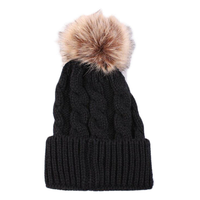 2017 New Autumn Winter Men And Women's Beanies Hat,5 Colors Knitted Wool Skullies Casual Cap Solid Colors Gorros Cap