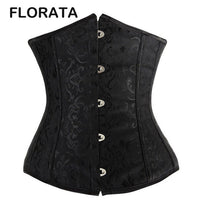 2016 Hot sale Lovely Pure New Women Satin Sexy Bustier Lace up Boned Top Corset Underbust Brocade Body Shaper
