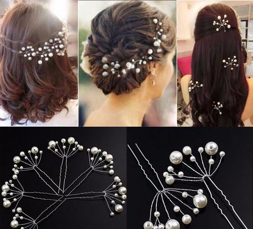 Pearls Hair Pins Clips