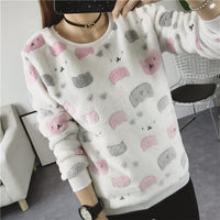 2017 New Women Cute Print Hoodies Spring Autumn Long Sleeve Casual Sweatshirts Moleton Feminine Oversize