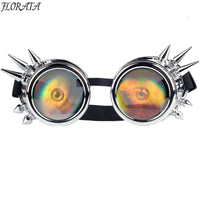 2017 New Gothic glasses Women Cosplay Rivet Steampunk Goggles  Vintage Sunglasses Welding Punk Men glasses Goggles