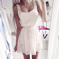 Chiffon Sleeveless Mini Dress