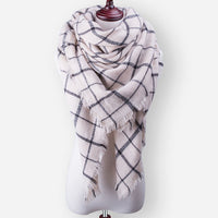 2017 New Winter Scarf For Women Tartan Scarf Women'S Plaid Blanket Scarf Basic Shawls Autumn Winter Warp