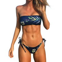 2017 Bikini Women Bikini Set Swimwear Push-Up Padded Bandage Print Bra Swimsuit Beachwear Summer Beach Suit Sports Bra ng0