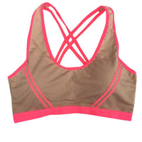 2017 New Sexy Women Yoga Pure Slim Fitness Stretch Workout Tank Top Seamless Racerback Padded Sports Bra