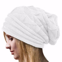 2017 Women Winter Crochet Hat Wool Knit Beanie Warm Comfortable Caps Fashion Wrinkled corrugated Hat Gorras #1