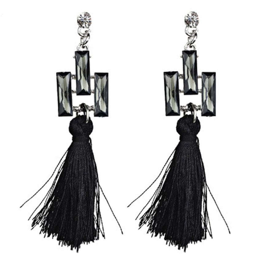 2017 fashion ladies Drop Earrings with the Bohemia style women Hanging Rope Tassel Earrings fashion Drop Earrings for ladies