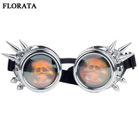 2017 New Retro Rivet Goggles Windproof Gothic Vintage Style Cosplay Scooter Steampunk Eyewear