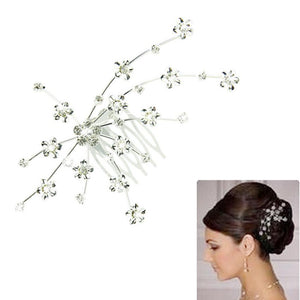 Rhinestone Hair Care Silver Gem Crystal