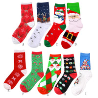 2017 New Autumn Winter Cartoon Animal Paradise Women Thick Cute Christmas Comfortable Stripe Cotton Sock Short Ankle Socks