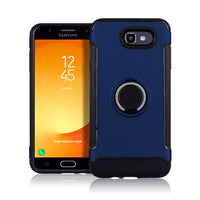 2 In 1 Hybrid Armor Case + Kickstand Finger Ring Car Bracket Holder Cover For Samsung Galaxy J3 Emerge/J3 J7 2017 (US Version)