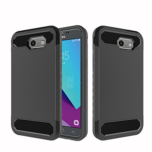2 In 1 Hybrid Armor Case Shockproof Cover For Samsung Galaxy J3 Emerge/J3 Prime/J3 2017/Express Prime 2/Amp Prime 2/Sol 2