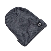 MUQGEW Women Winter Hat Cartoon Cute Funny Smiling Face  Winter Cap Hats For Women Knitted Hat Solid Color For Girls Warm Hat